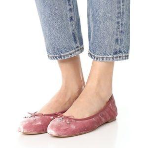 Sam Edelman Felicia Faded Rose Velvet Ballet Flats